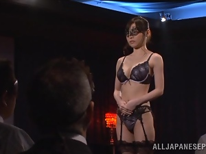 Erina Fujisaki blows and gets her tight Japanese snatch fucked hard