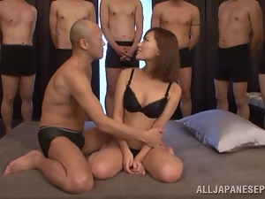 Kokone Mizutan Fucked by One Cock and Takes Plenty Cum in Bukkake