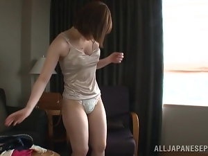 Michiru lets her BF play with her tits before she gives him a blowjob
