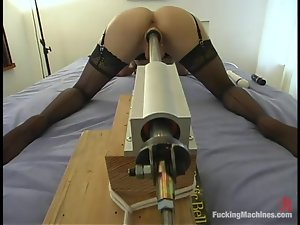 Horny Alexis gets toyed hard by different fucking machines