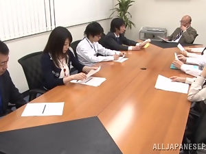 Pretty Japanese office girl gets fucked in all known positions