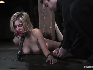 Tied up Fayth Deluca gets toyed in a basement