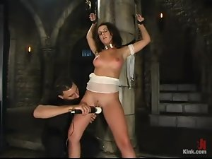 Penny Flame gets her pussy licked, toyed and pounded hard from behind