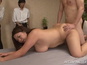Bunch of dudes are banging a sweet Japanese lust