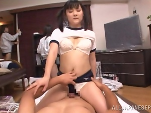 Pigtailed Japanese chick enjoys some naughty banging with a stranger