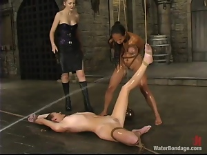 Black and White girls get humiliated in a basement