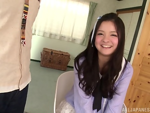 Playful Kokomi Suzuki sucks a cock with pleasure