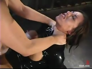 Trixie Cas gets choked and fucked hard in stunning BDSM video