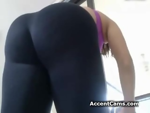 Girl In Yoga Pants Stripping