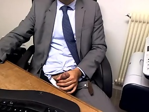 Guy Caught Masturbating In Office