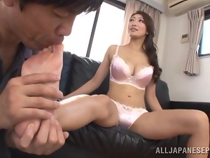 Oiled up Reiko Kobayaka gets fucked nice and deep