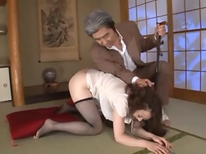 Collared Slave Yuu Kawakami Anally Fucked With A Dildo