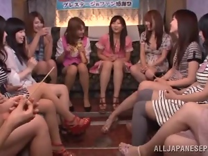 Hot Japanese ladies have a masturbation gathering