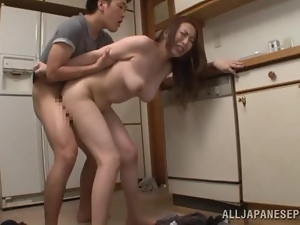 Aoi Aoyama gets unforgettably fucked from behind in the kitchen