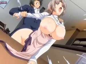 Sexy hentai secretary gets drilled