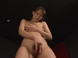 Nice Miku Aoki fondles her pussy and sucks a cock in POV