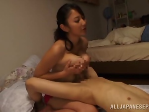 Desirable Japanese honey loves riding that stiff cock