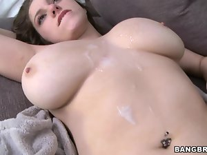 Krista James shows her great natural tits and enjoys ardent banging