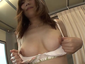 Kimi Hirosue gets her vag fingered and pounded in cowgirl position