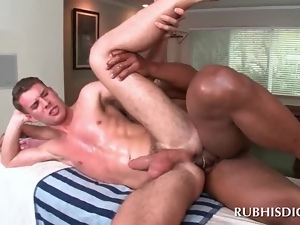 Interracial butt fucking with gays