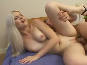 Petite blond siren is enjoying that nice doggy style