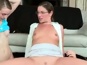 MILF Sits Her Pussy On Teen Boyfriends Face