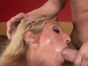 Nasty cock hungry blonde MILF Andrea