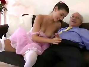 Stockinged euro slut eats