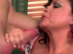 Big busty horny mature wife