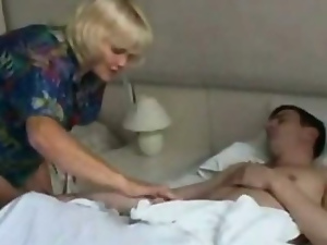Hot mom drilled by her son