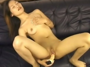 Asian Teen Masturbating with Favourite Toy