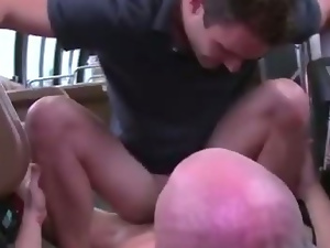 Hottest guy bounces tight ass on cock and really loves it