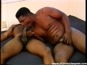 Sucking cock with a hairy black guy