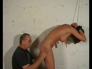 Nipple clamps and bondage for a gorgeous girl