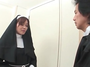 Japanese nun stripped naked and fondled