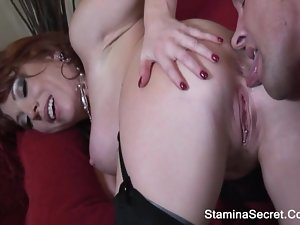 BRITTANY OCONNELL - Redhead MILF Nailed Roughly And Got Facial Cum 2