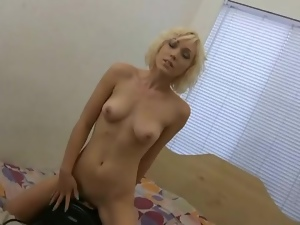 Lily LaBeau rides Sybian to cum hard