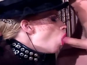 Fetish sex in fishnet stockings and shiny latex