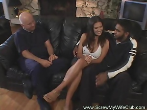 Hotwife Swings In Front Of Husband Yeah