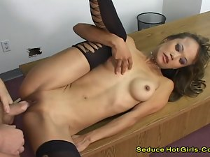 Amazing Ass Gal Fucked On Her Own Boobs And Got A Facial Cum