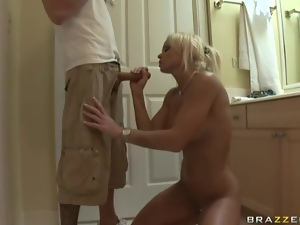 Freckled milf bares her body and fucks hardcore