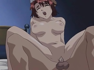 French maid fucked in her hentai ass