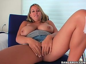 Brandy Talore fondles her incredible tits