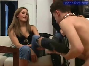 Dominated by women in leather boots