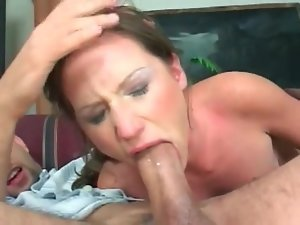 Wet gagging head for his big cock