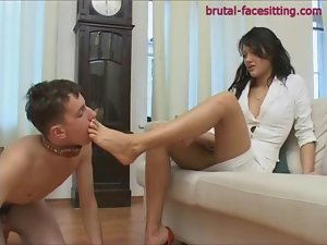 Facesitting with dominant mistress in panties