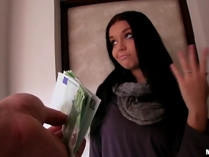 Amateur Vikky nailed hard for some money