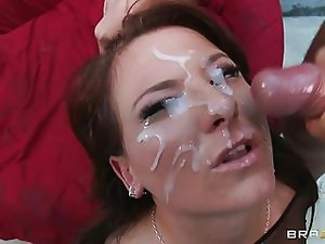 Casey Cumz Gets Her Face Saturat...