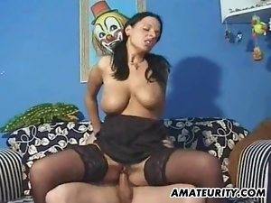 Busty amateur girlfriend suck and fuck with facial