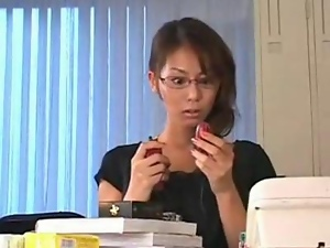 Horny Japanese Teacher S Pussy Hammered Down...f70